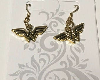 Gold Wonder Woman Inspired Earrings