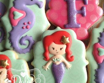 Mermaid Under the Sea Birthday Cookies