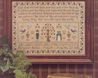 Adam & Eve Sampler Kit for Counted Cross Stitch - #3K