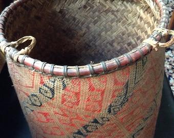Basket from  E or N Sarawak Borneo made by Kenyah Dayaks