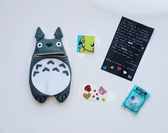 Totoro Zip Purse, Makeup Bag, Coin Purse, Small Accessory Pouch, Hayao Miyazaki, Studio Ghibli, Japan Comic, Gift For Her, Gift for Sister