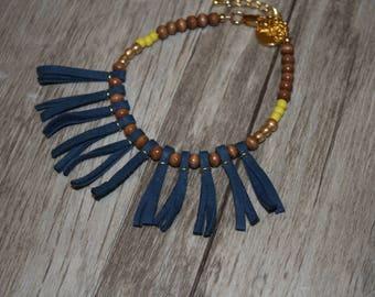 Fringe Leather Boho Bracelet | Beaded Bracelet | Boho Bracelet