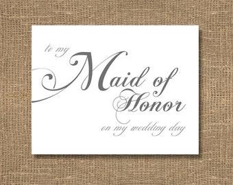 To My Maid of Honor on My Wedding Day - Wedding Card