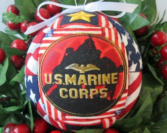 Marine Corp, Christmas Ornament, Patriotic, Military, Gift For Him or Her, Tree Decoration, Home Decor, Gift Under 20, Fathers Day Gift Idea