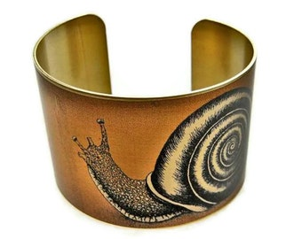 Snail cuff bracelet Vintage style brass   (As seen in Minnesota Monthly magazine) Gifts for her