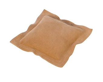 Square Sandbag Leather 6 in. - For Stamping, Chasing, Forming - Helps Deaden Blow of a Bench Block - Metal Working Jewelry Tool - DAP-572.06