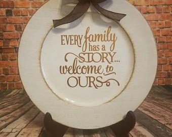 Every Family has a Story Charger plate
