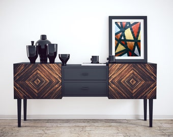 Original Metallic Geometric Acrylic Painting, Modern Art, Office Art, Acrylic Painting, Black Art, Metallic Painting, Abstract, Gold Art