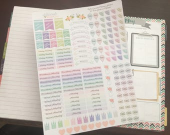 LDS Relief Society Planner Stickers -- made to fit Erin Condren Life Planner