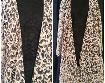 Printed long coat
