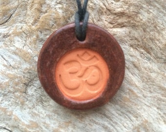Aum -Om Symbol Diffuser Necklace | Essential Oil Diffuser Necklace | Aromatherapy Jewelry | Yoga Accessory