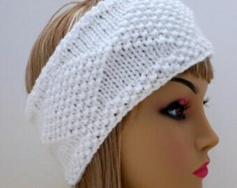 PDF 129 Pattern Headband Knit Diamonds Knitting Pattern PDF Headband Ear Warmer, Earwarmer, Hat, Diamonds