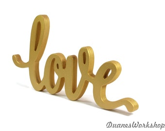 love sign wedding decor script love sign elegant love sign sweetheart table gold love sign home decor wooden wood sign rustic wooden sign