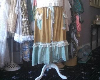 bronze prairie ladies aqua ruffled skirt from moonlight masqurade