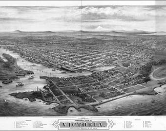 Poster, Many Sizes Available; Map Of Victoria, Vancouver Island Canada 1878
