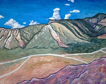 Ghost Ranch, New Mexico, Original Oil Painting 20 x 24 inches by Alex Roediger