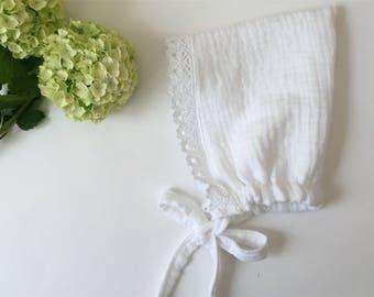 baby bonnet, 100% organic cotton,  Baby Girl Bonnet . cotton baby bonnet . organic cotton baby bonnet, spring baby bonnet, bonnet.