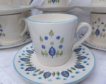 Marcrest Swiss Chalet Cups and Saucers, Marcrest Stetson Cups and Saucers, Marcrest Swiss Alpine Cups and Saucers