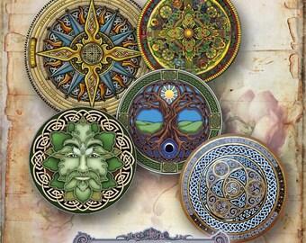 12 Celtic Circles Set 1