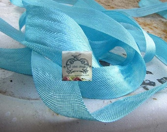 Rayon Seam Binding Ribbon Powder Aqua