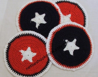 Patriotic Star Coasters