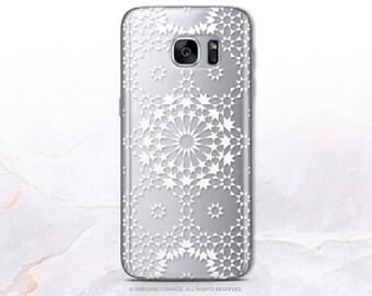 iPhone 8 Case iPhone X Case iPhone 7 Case Moroccan Clear GRIP Rubber Case iPhone 7 Plus Clear Case iPhone SE Case Samsung S8 Plus Case U56