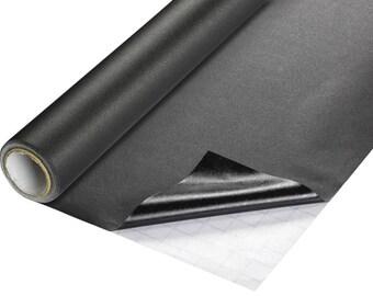 Panel film 200 cm x 45 cm, black, self-adhesive