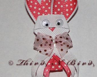 Easter Bunny Hair Clip Ribbon Sculpture Instruction Set