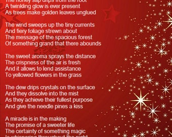 Self written greeting cards/ stationery with a Christmas poem on them