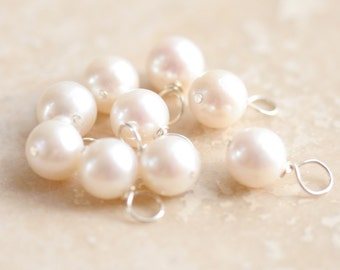 Add a White Pearl Dangle