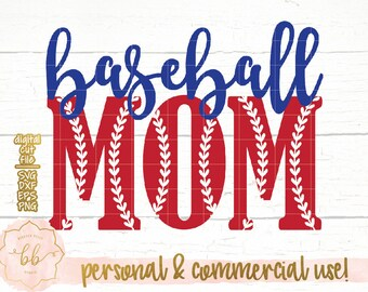 Baseball Mom SVG, girl, baseball svg, eps, dxf, png file, Silhouette, Cricut, commercial use