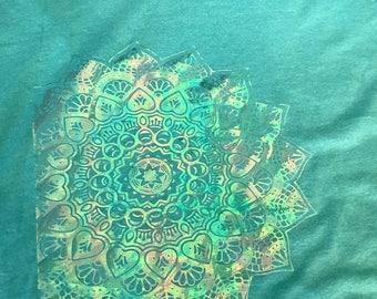 Holographic Mandala Tee