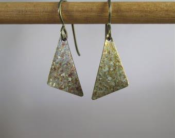 Golden Krystal Titanium© Geometric Dangle Earrings
