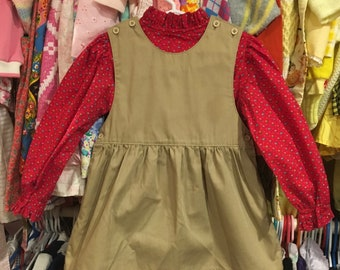 80s Dress and Blouse 3/4T