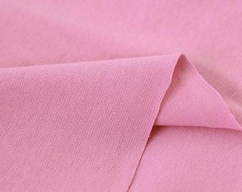 Pink 1x1 Ribbing and Binding Knit Fabric, by Half Yard 77040
