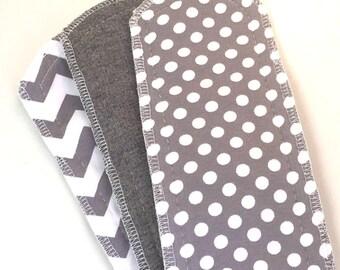 Natural Girl re-usable modern cloth sanitary menstrual pads. x3 LIGHT or panty liner pads.