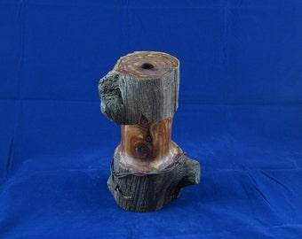Handmade wood Bud Vase, Weed Pot, fence post, reclaimed wood candle holder, wood candle pillar candle holder, rustic bud vase,  Item# 1403
