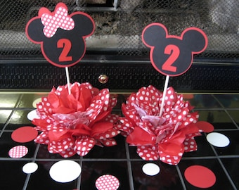 Minnie and Mickey table decoration red and white
