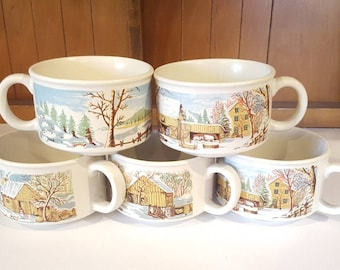 Sunnycraft Stoneware Hand Decorated Mugs/ Cups