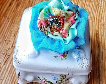 Flower brooch Silk flower brooch Silk jewelry Hand made accessory Designer handpainted silk brooch Valentine's day Gift for her