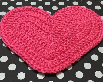 Crochet Heart XXL, Heart Appliqué, Crochet Appliqué, Crocheted Heart