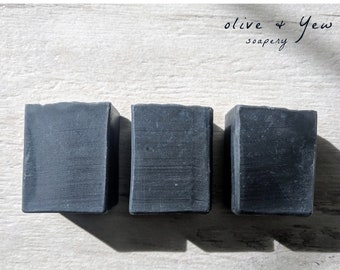 Charcoal Soap, Tea Tree Soap, Face Soap, Acne Soap, Vegan, Handmade, Body Soap, Handcrafted, All Natural Essential Oil Skincare Skin Care