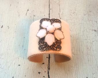 Cream Cuff Adjustable Bracelet