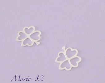 Clover leaf 10 mm 4 1 / sterling silver charm