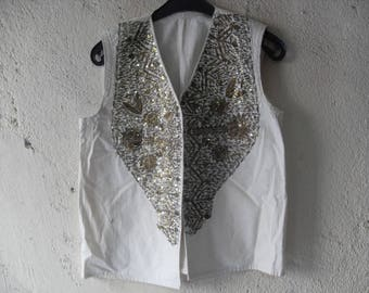 Wire embroidered vest