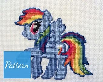 Rainbow Dash (My Little Pony) Cross Stitch Pattern