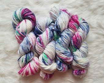 Mermaidia, Bulky Weight Yarn, Hand Dyed Yarn( 50 percent Superwash Merino Wool, 50 percent Nylon)