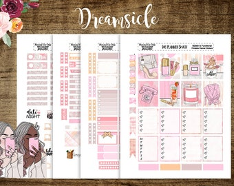 Dreamsicle | Erin Condren | Printable Planner Stickers | Planner Printables | Printable Stickers | Cut Files | Dark Skin | Light Skin