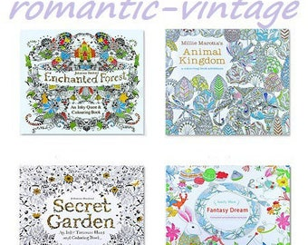 NEW! Beautiful coloring art therapy, 4 designs to choose from 24pages book