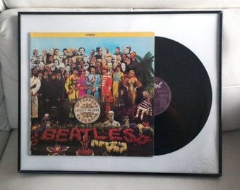 The Beatles Sgt Pepper's Lonely Hearts Club Band In A Frame 1977 Canada purple record Near mint